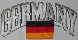 Germany Embroidered Flag Patch, style 03.